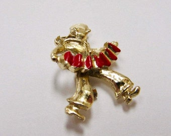 On Sale Vintage Enameled Sailor with Accordion Pin Item K # 1842