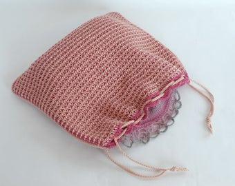 Double-ended crochet hook pattern for project bag, project pouch EL SECRETO de PALÍNDROMO