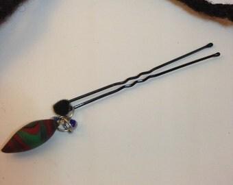 Hair Pin. Bead Jewelry. Locs, Dreadlocks, Braids and Twists