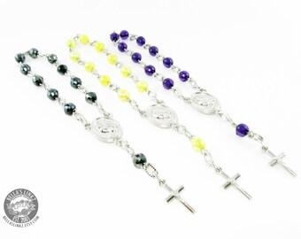 Single Decade Hand Rosary - Disco Facet