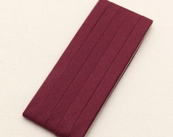 Cotton Candy Series Folded Cotton Bias in Rouge - 3 Yards 92891