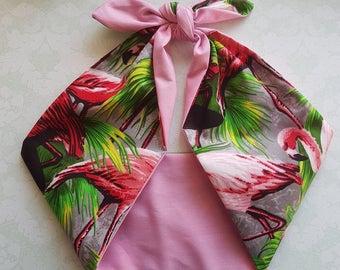 flamingo pink pin up rockabilly  bandana,  rockabilly pin up psychobilly  hairband headband