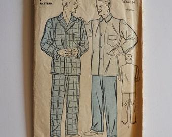 1930s mens pajamas pattern