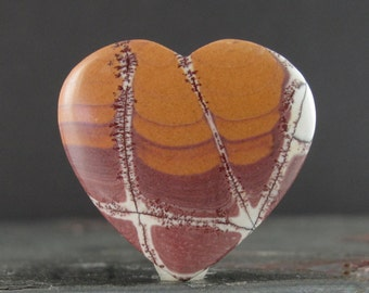 Sonoran jasper heart shape, Pendant, natural cabochon B6566