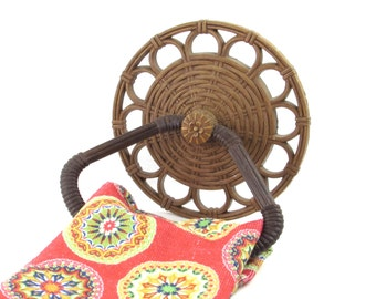 Syroco Towel Holder - Faux Wicker Wall Hanging - Vintage Home Decor