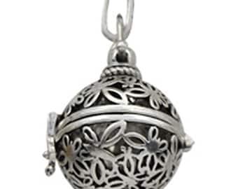 2pc antique silver finish metal prayer box pendant-7217
