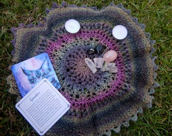 Small Handmade Altar Cloth Pagan, Witch, Wicca, Free shipping
