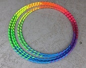 "Ready Made/Ready To Ship // ""Rainbow Fade Away"" Polypro Hoop"