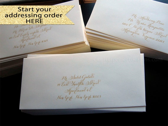 GETTING STARTED - Custom Wedding Digital Calligraphy Envelope Addressing Printing
