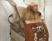 Dog carrier -animal print