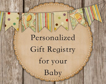 Personalized Gift Registry for Your Baby