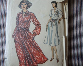vintage 1970s vogue sewing pattern 9770 misses loose dress size 20 1/2