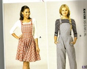 Kwik Sew 4138 new and uncut overalls, pants or dress womans pattern