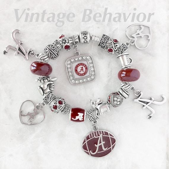 Alabama Charm Bracelet: Authentic 925 Pandora Bracelet With European Charms Alabama