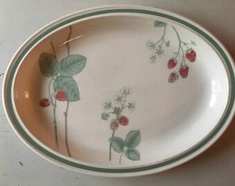 Wedgwood Raspberry Cane Serving Platter