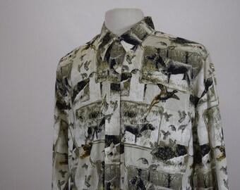 Dog & Pheasant Print Shirt