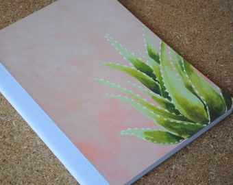 Pink Agave Notebook, Full Sized, Altered Composition Notebook