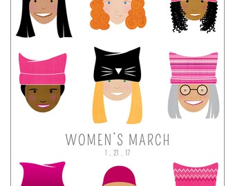 Women's March 2017 Art Print -100% of Profits Donated