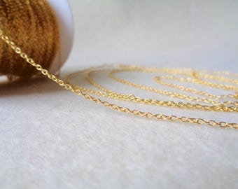 Raw Brass Chain, 1.5x2 mm open links