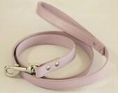 Purple dog Leash, Pet accessory, Lilac Leather leash,  Dog Lovers, Dog Leash, Lilac wedding dog accessory, Custom leash