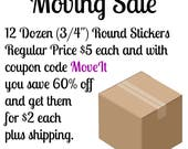 """Save 50%! with Planner Sticker Grab Bag with 144 3/4"""" Circle Planner Stickers"""