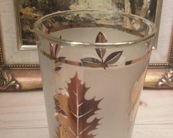 LIBBY Gold Leaf Wonderful DRINKING GLASS