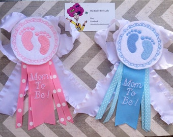 Mom To Be Corsagebaby Shower Corsagebaby Feet