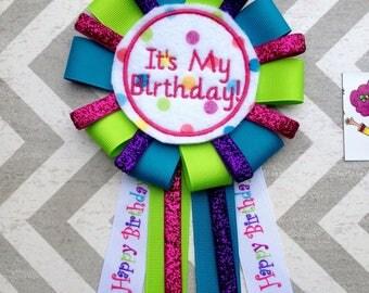 Birthday Corsage-Happy Birthday Pin-It's My Birthday