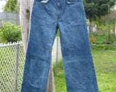 SALE Vintage 70's Levis Flare Thick Blue  Denim Jeans, Waist 27'' Inseam 30.5''  Orange tab 1970's