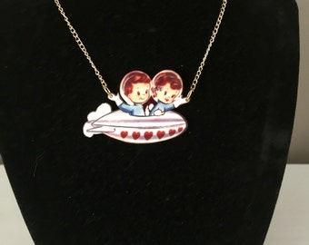 Kids in Space Necklace