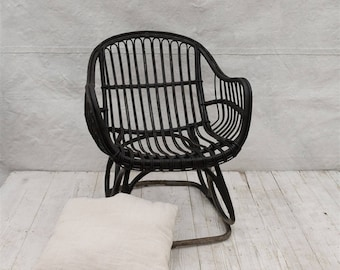 Black Bamboo Chair