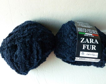 Yarn Sale  - Midnight Blue 9  Zara Fur by  Filatura Di Crosa Yarn
