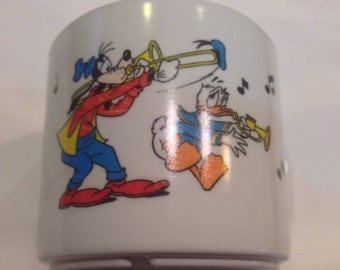 Great Vintage Disney Selandia Child's Mug featuring Pluto, Goofy & Donald Duck