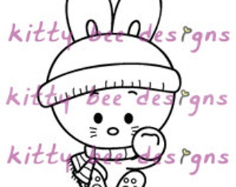 Snow Bun Digital Stamp