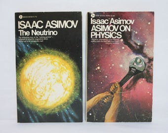 Asimov on Physics and The Neutrino ~ Two Vintage Paperback Books by Isaac Asimov