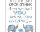 Blue and Gray Kids Room Decor Elephant Nursery Art Baby Boy Room Decor Baby Nursery Decor Baby Boy Nursery Kids Wall Art Kids Art
