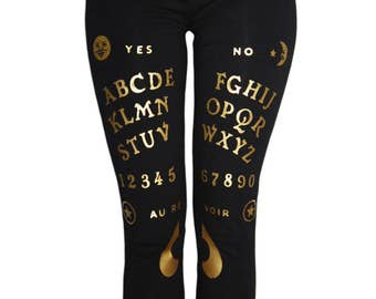 Ouija Board Occult Leggings