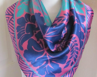 "Ladies Pink Colorful Soft Poly Scarf 26"" Square - Affordable Scarves!!!"