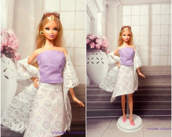 Summer dress for barbie doll