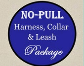 No-Pull Harness, Collar & Leash Package - Dog Harness Set - Available in all Dog Collar Listings - Fabric name