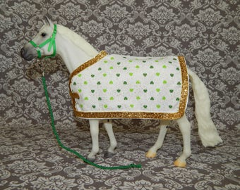 ON SALE! Blanket & Halter Set for Traditional Size Model or Breyer Horse