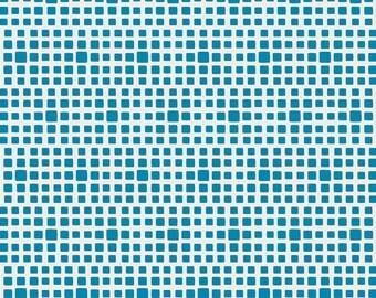 Squared Elements by Art Gallery Fabrics, Cyan, SE-621