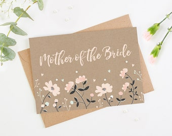 Mother of the Bride Floral Card
