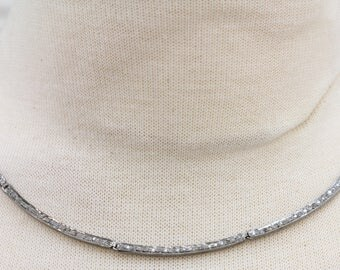 Pave Diamond Necklace, Pave Diamond Choker Necklace w/Diamond clasp, Adjustable to 16 and 18 inches, Diamond Necklace, (DCH-036)