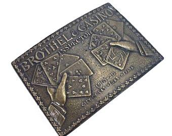 Vintage Belt Buckle, Brothel & Casino Inspector Belt Buckle