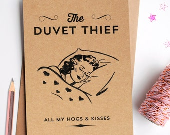 Funny Valentine's Day Duvet Thief Card
