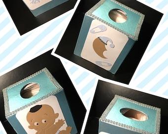 Baby Boy Bling Tissue Box Cover