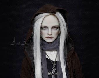 Dark Soul OOAK handmade dress set sd17 dollshe 18M sadol star70 boy clothing clothes size mori casual goth metal style