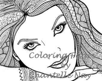 coloring page coloring page woman coloring page girl