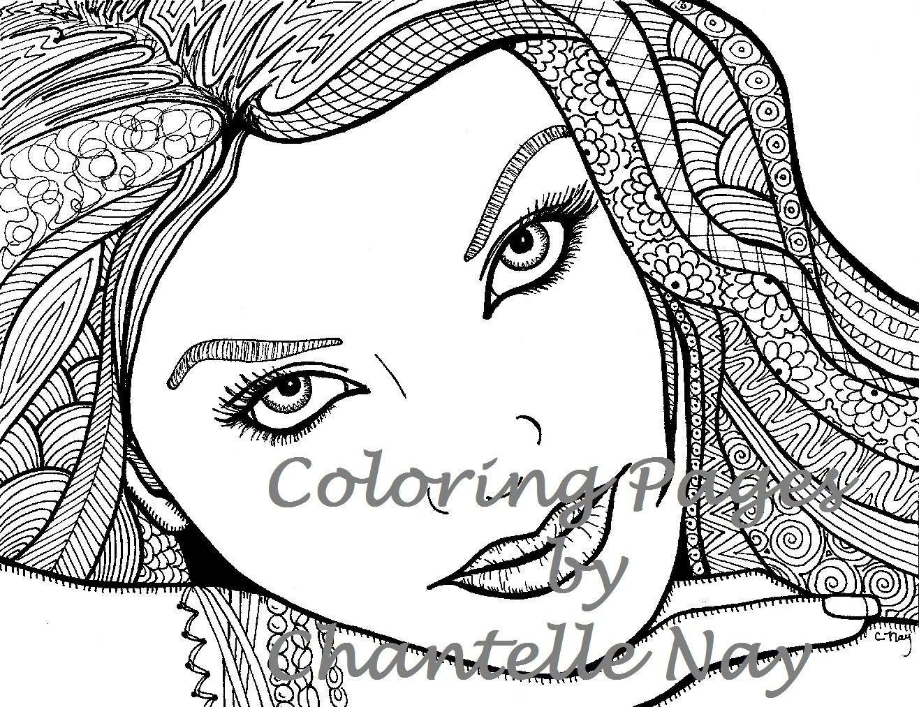 Kleurplaat Meisje Met De Parel